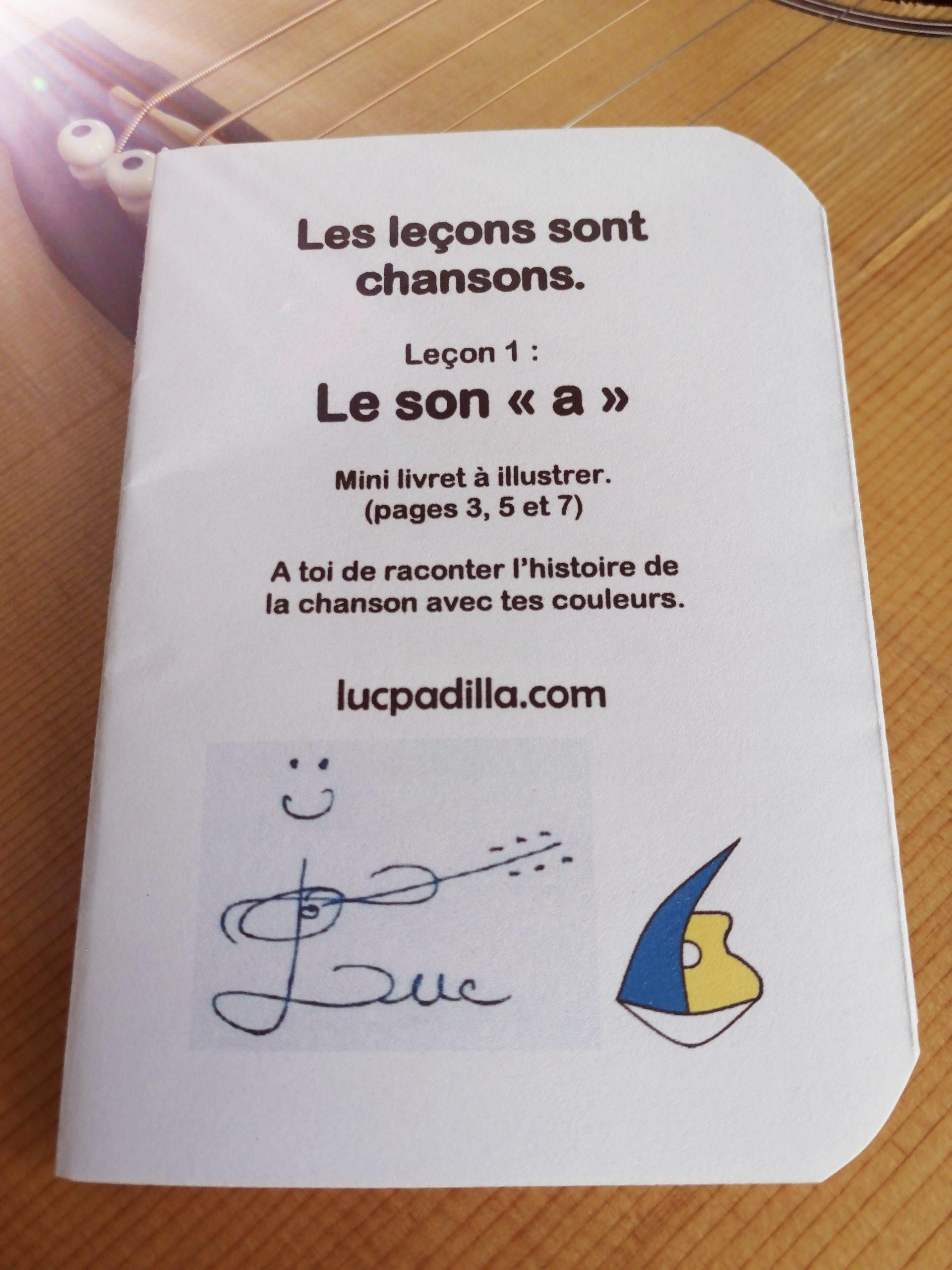 """Leçon 1 Le son """"a"""" Mini livret"""