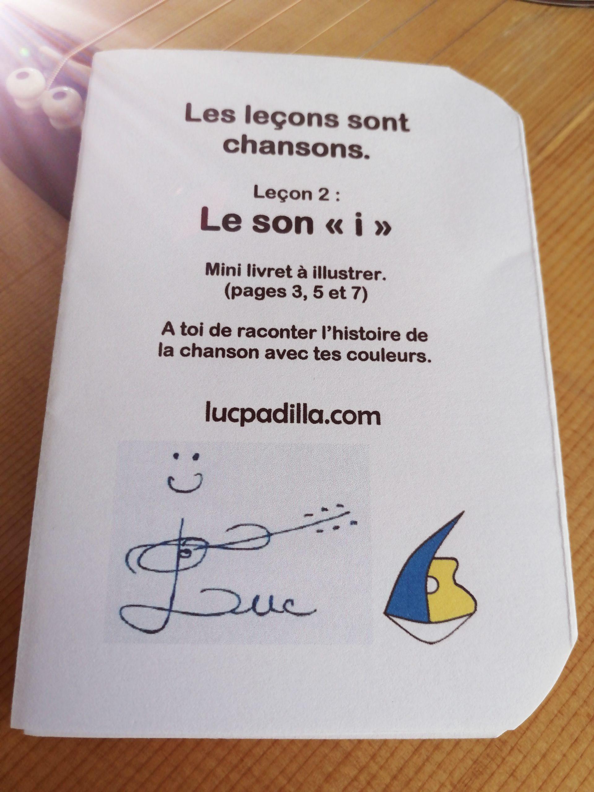 """Leçon 2 Le son """"i"""" Mini livret"""