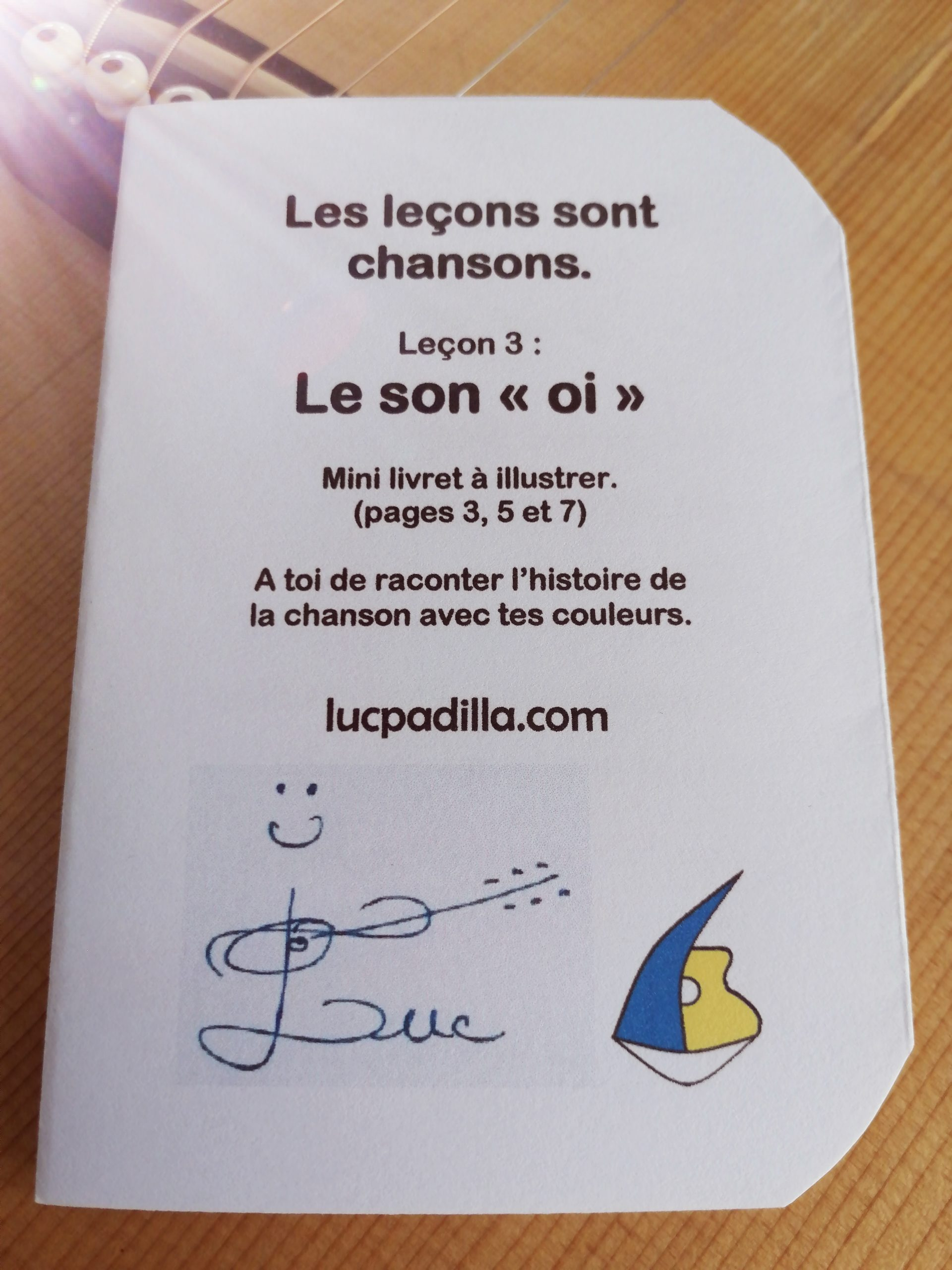"""Leçon 3 Le son """"oi"""" Mini livret"""
