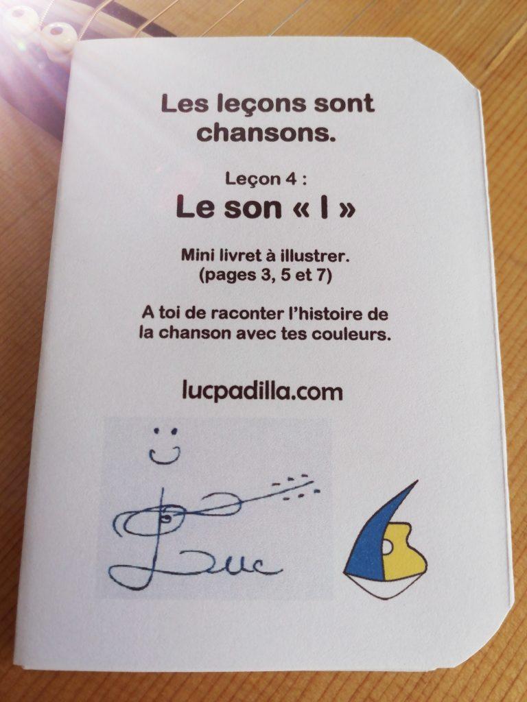 """Leçon 4 Le """"l"""" Mini livret"""