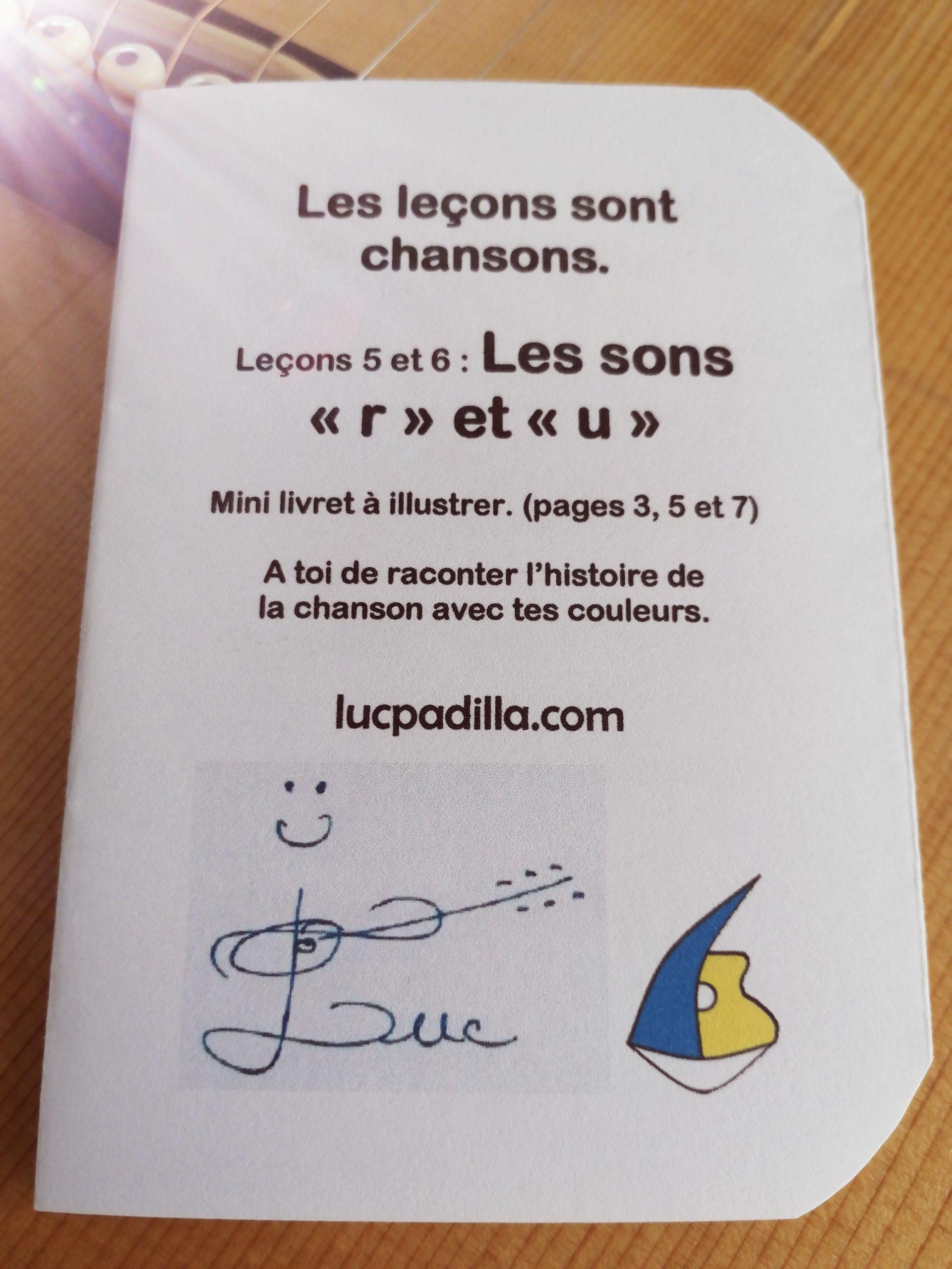 """Leçons 5 et 6 Les sons """"r"""" et """"u"""""""