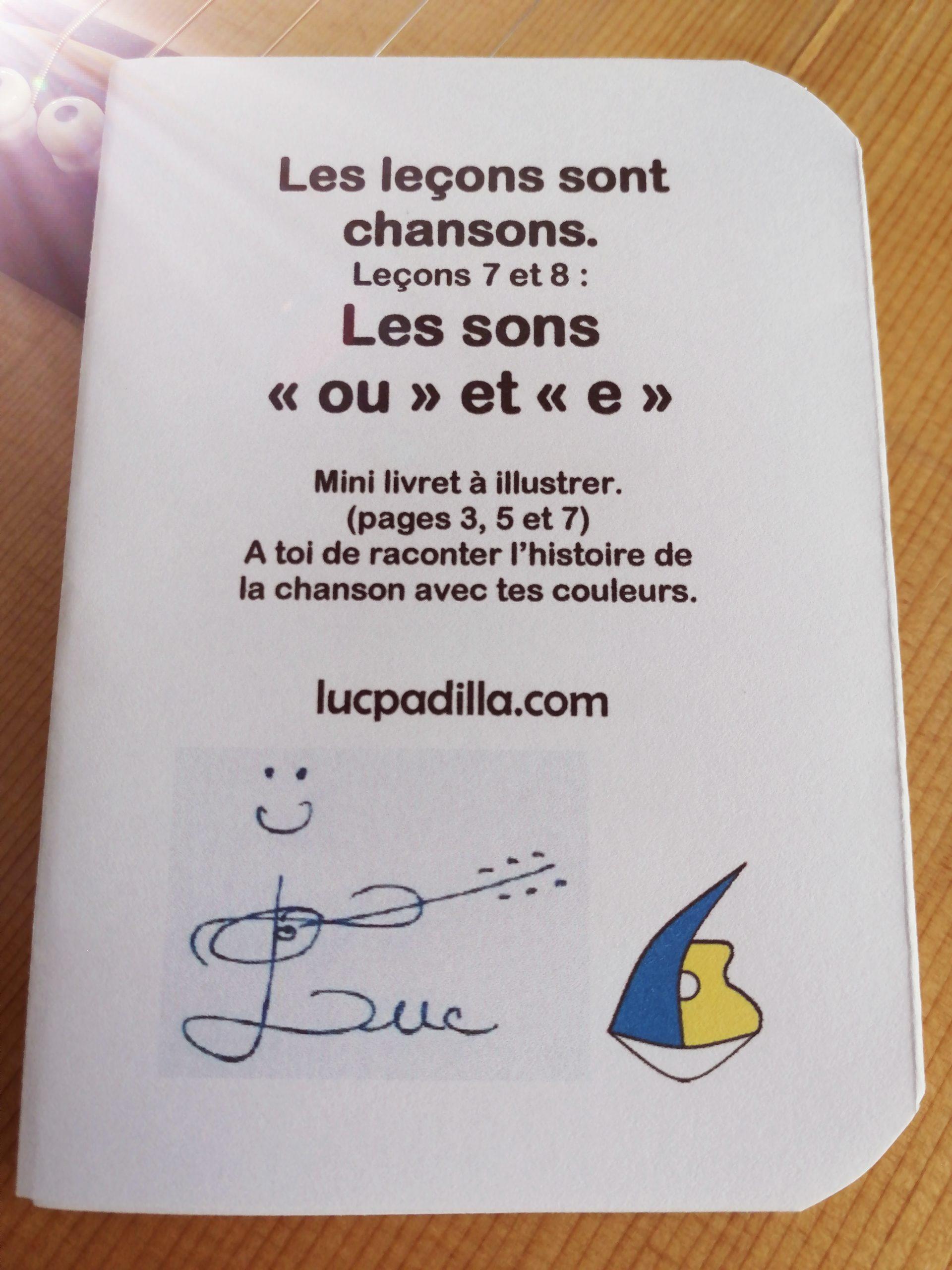 """Leçons 7 et 8 Les sons """"ou"""" et """"e"""""""