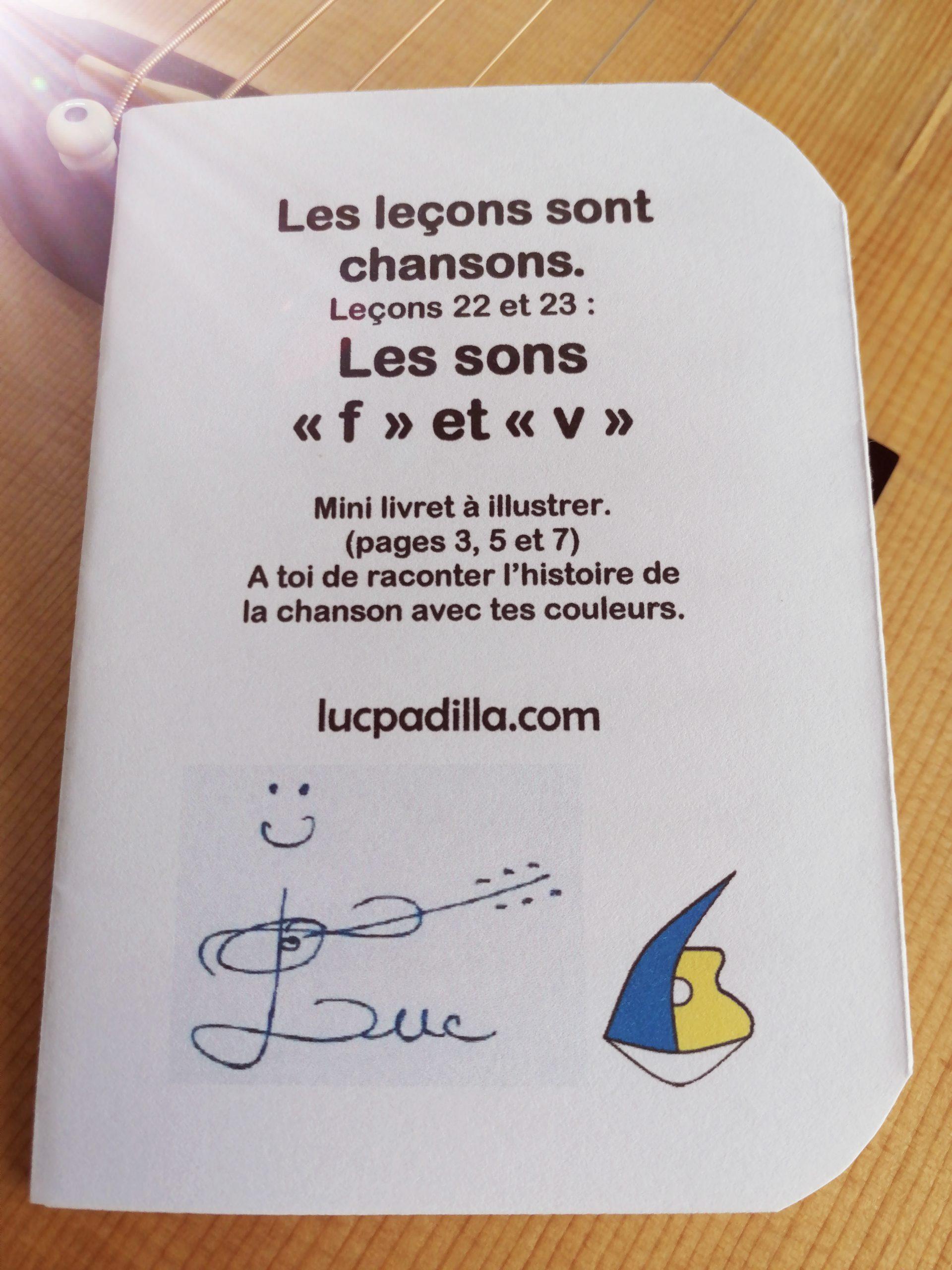"""Les leçons 22 et 23 Les sons """"f"""" et """"v"""""""