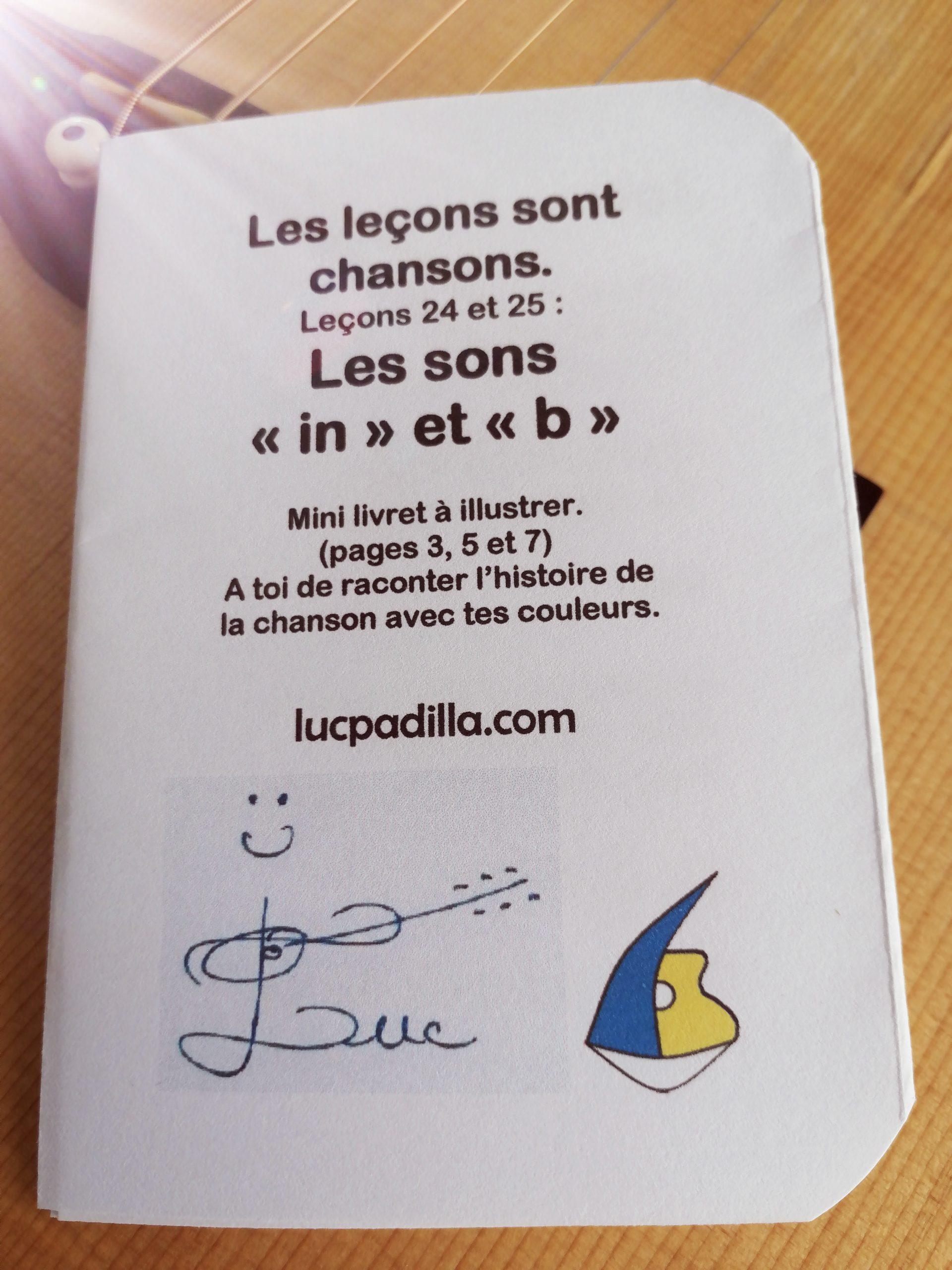 """Leçons 24 et 25 Les sons """"in"""" et """"b"""""""